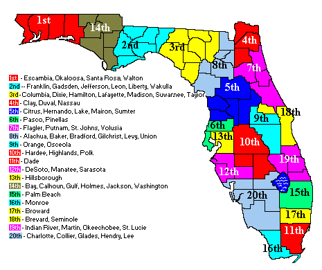 Judicial Circuits Map – The Florida Bar