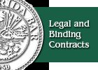 Legal and Binding Contracts
