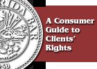 Pamphlet Consumer Guide Clients Rights