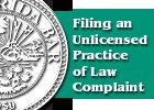 Pamphlet Filing a UPL Complaint