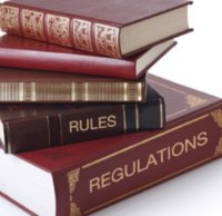 Rule books stock
