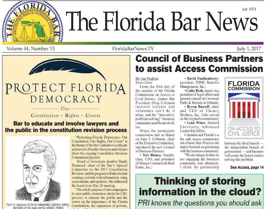 The Florida Bar News July 1