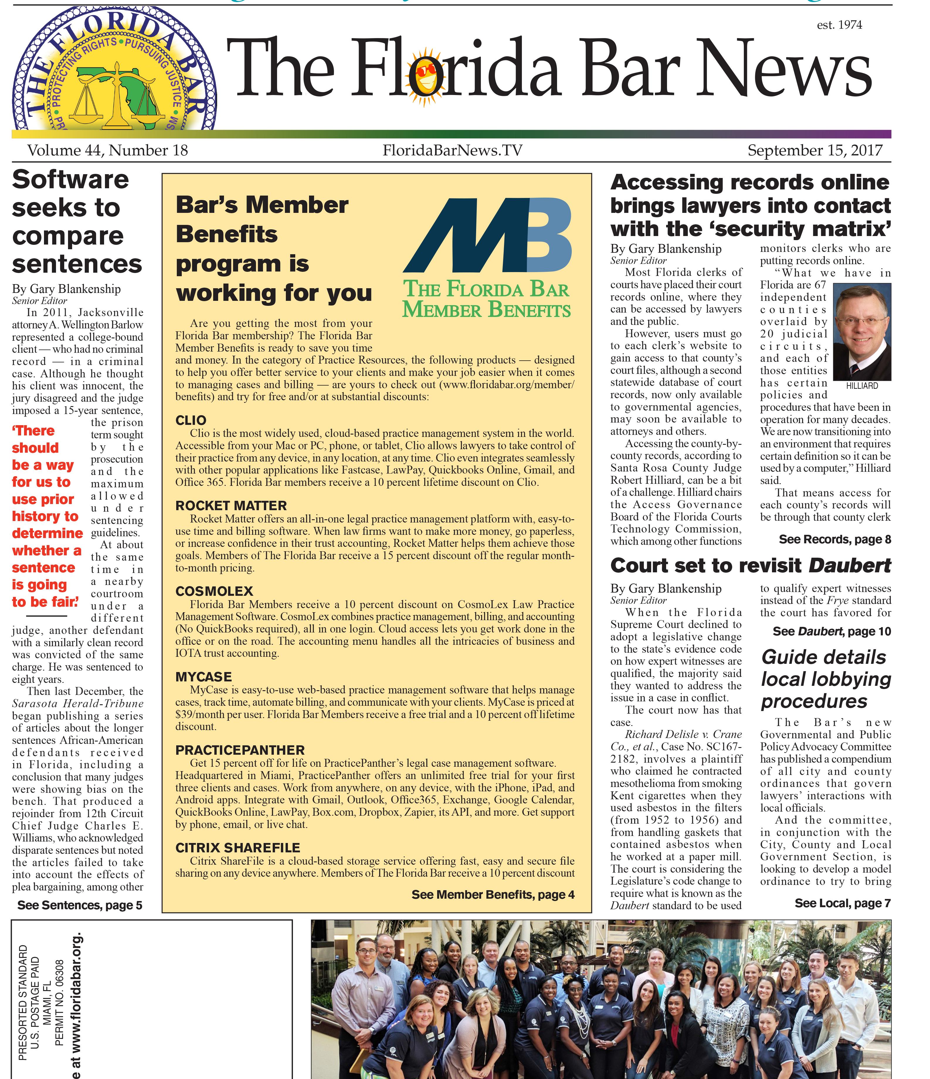Sept. 15 Bar News