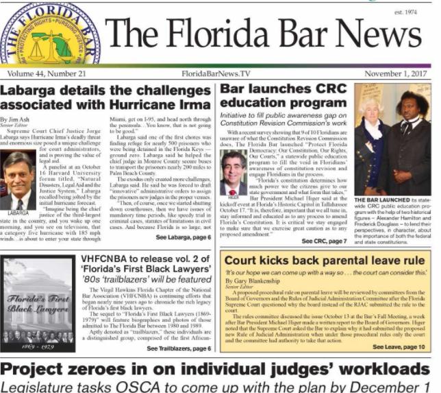 The Florida Bar News- Nov. 1, 2017