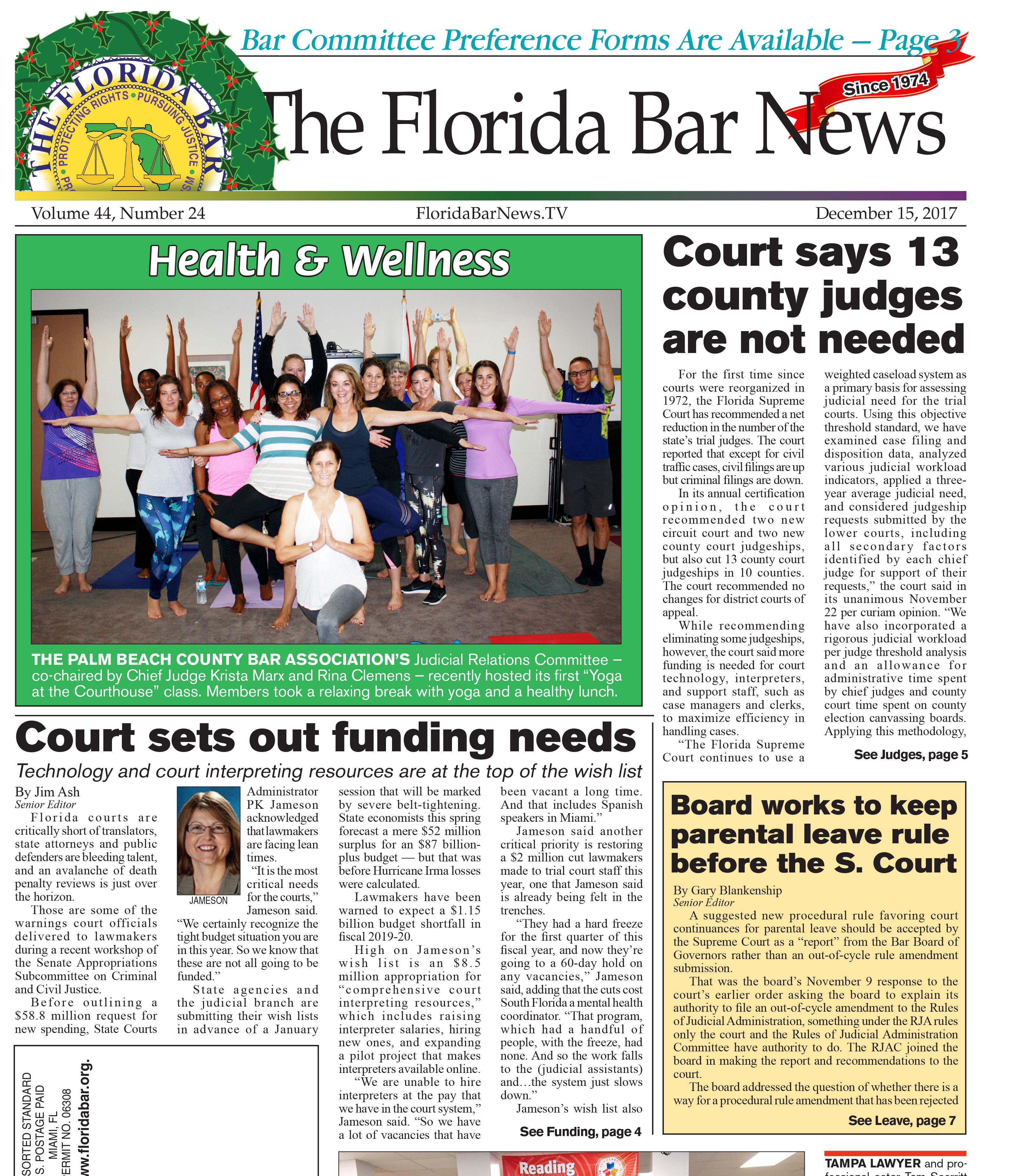 Bar News Cover Dec. 15, 2017