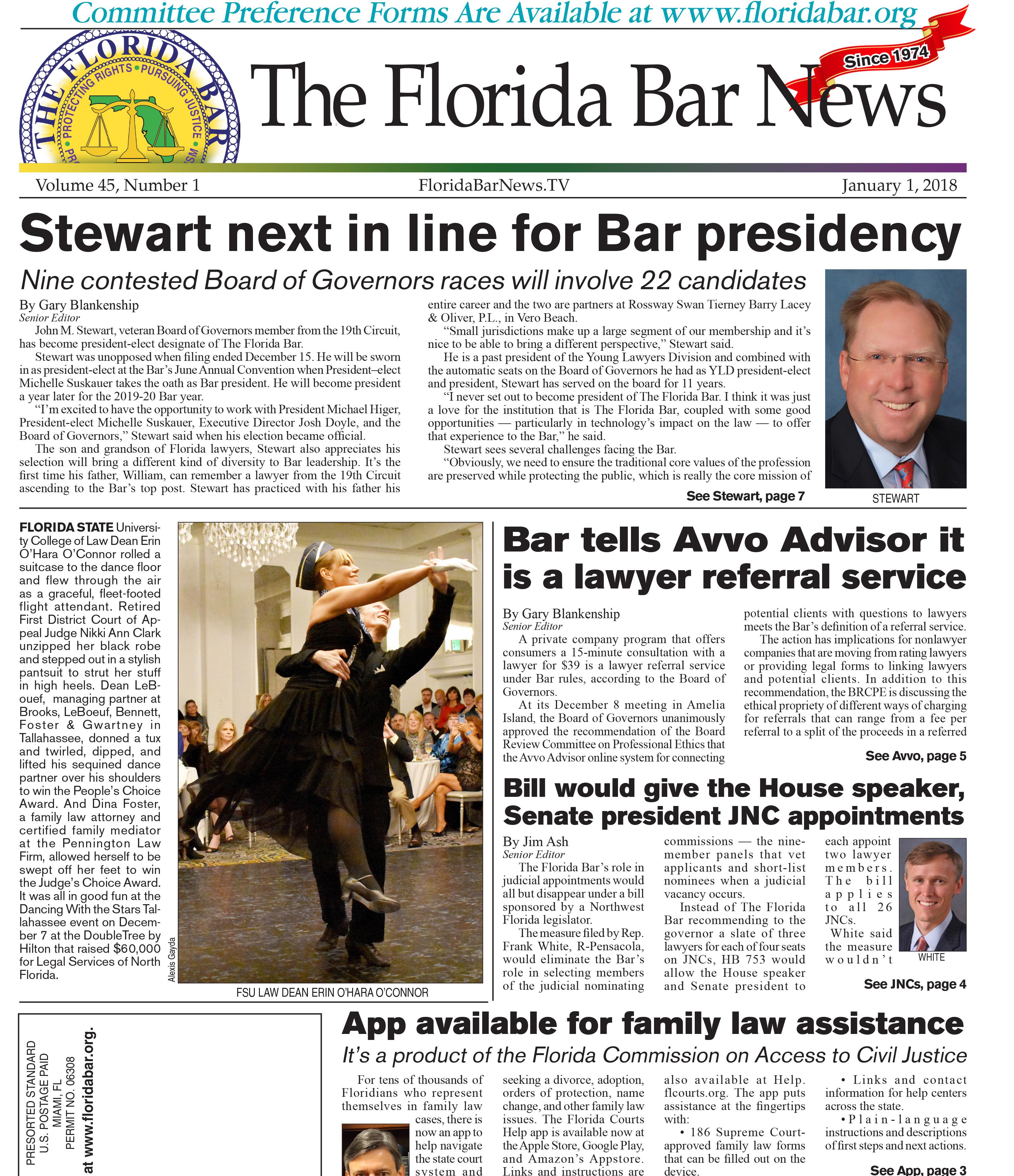 Jan. 1 2017 Florida Bar News