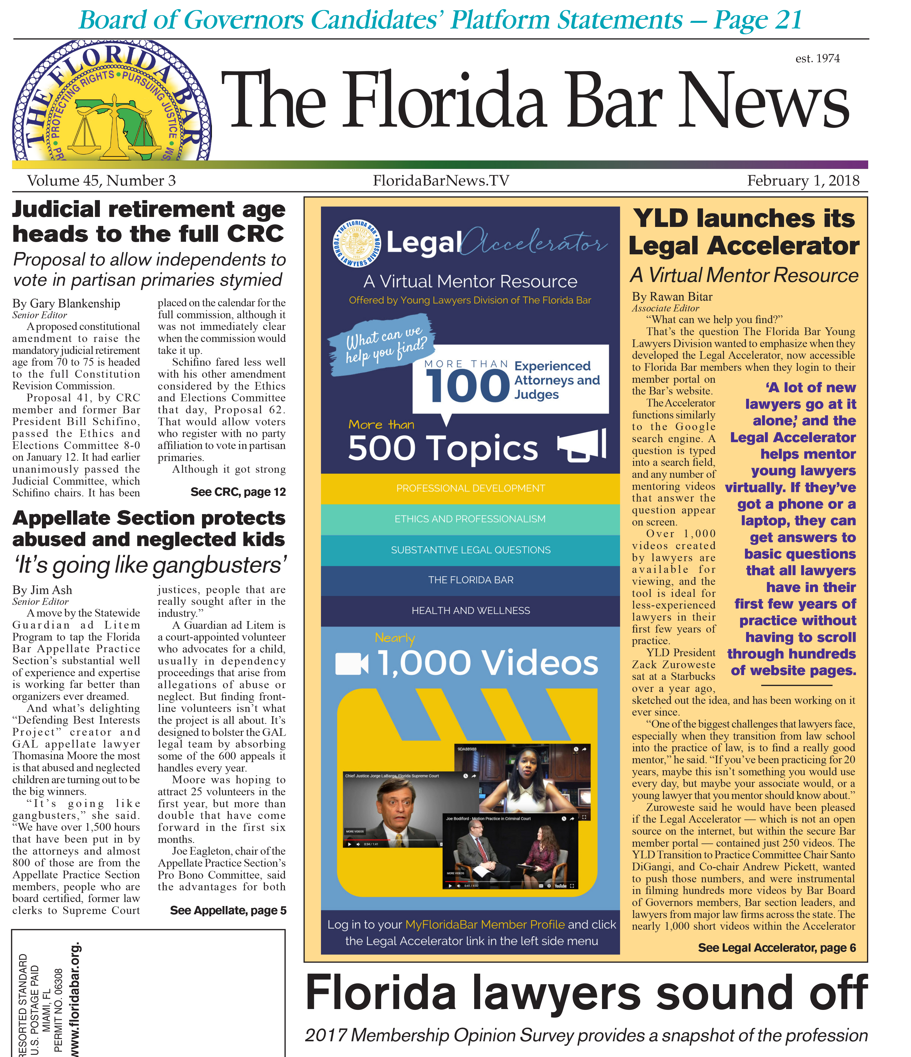 Bar News Cover Feb. 1 2018