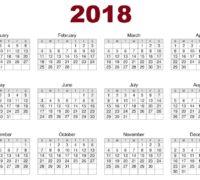 2018 calendars - Sept.
