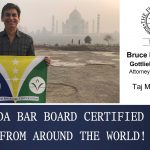 Cert Flag at Taj Mahal, India with Bruce Gottlieb