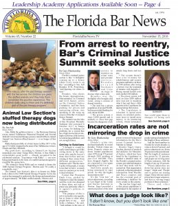 The Florida Bar News Nov. 15, 2018