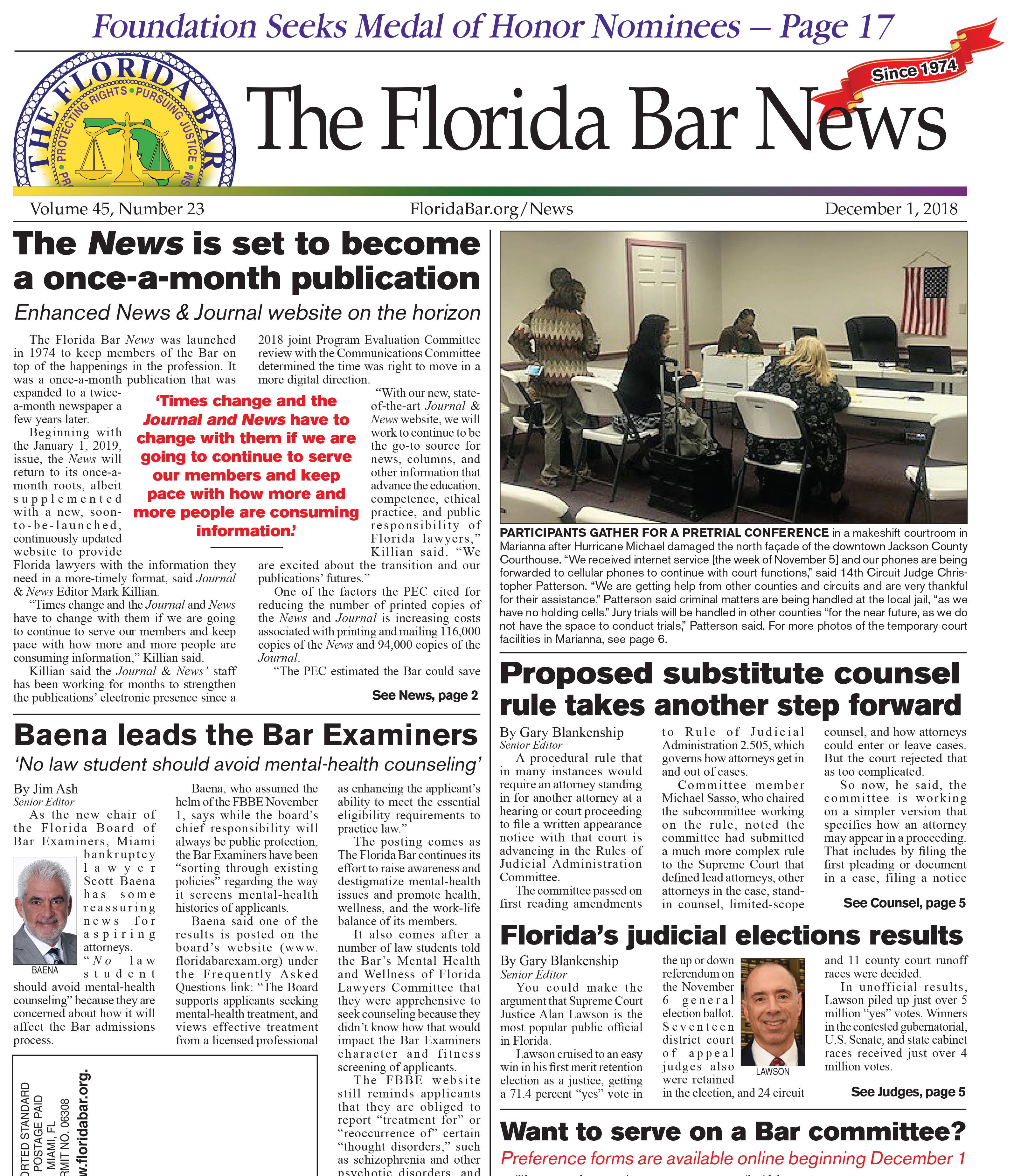 Bar News December 1 2018