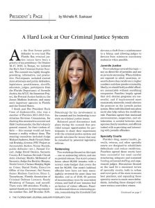 Presidents Page Criminal Justice