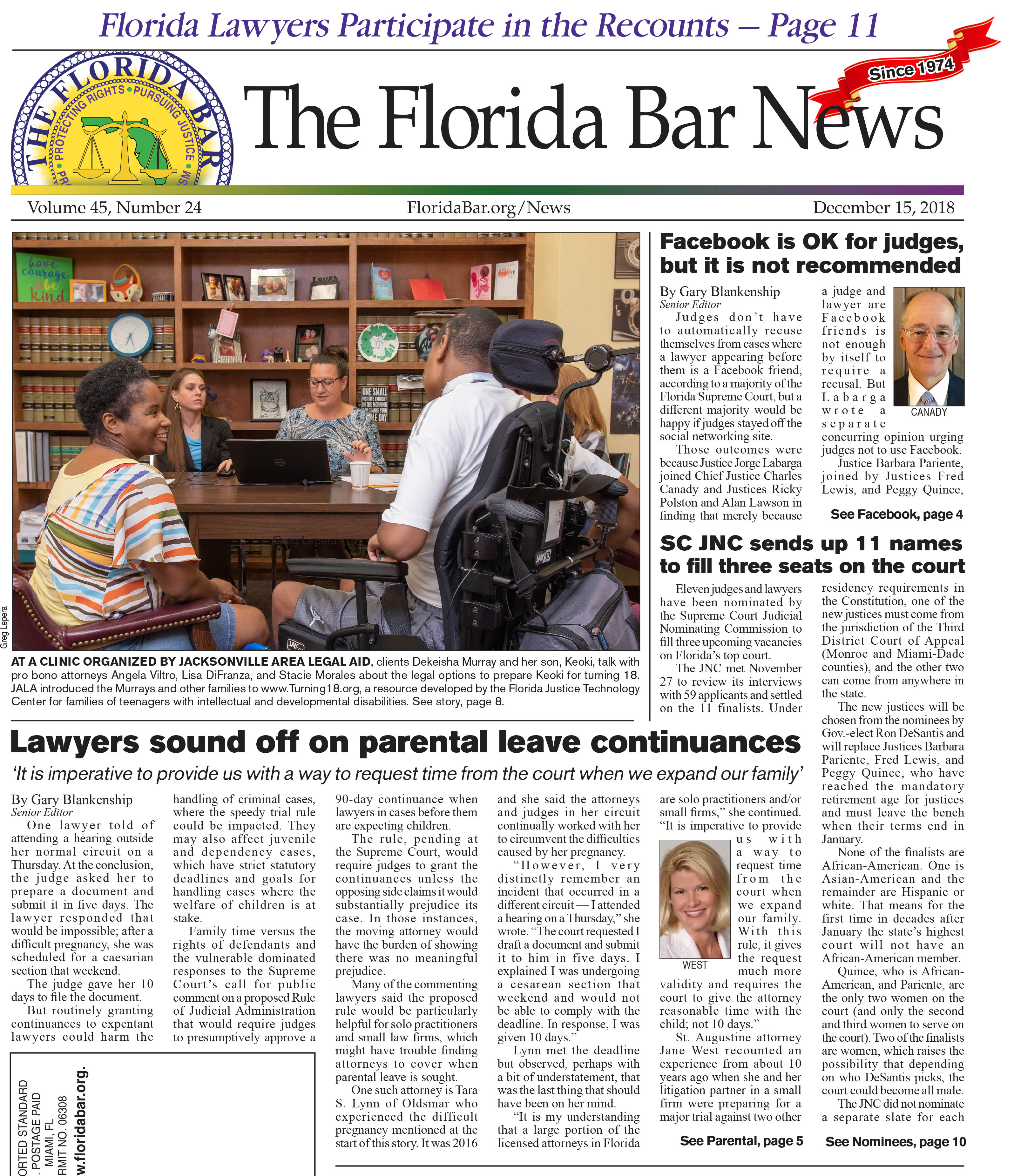 Dec. 15 Bar News 2018
