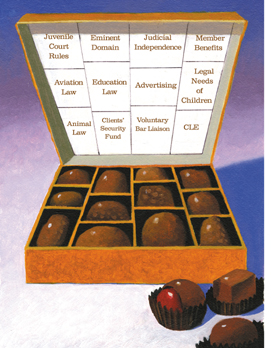 Box of assorted candies//Illustrated by Joe McFadden
