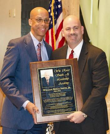 President Eugene Pettis, left, and Wm. Reece Smith III