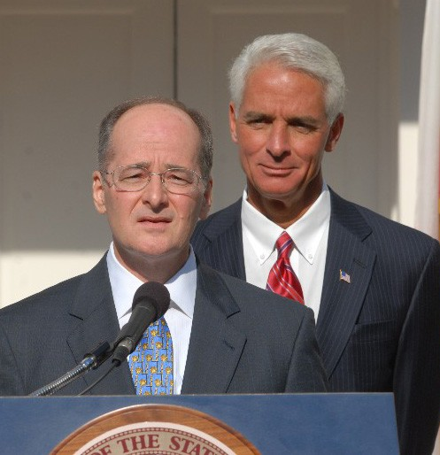 Justice Charles Canady and Gov. Charlie Crist