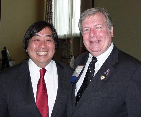 Dean Harold Koh and Bar President Frank Angones