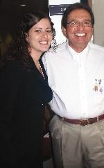 Veronica Limia and Judge Ron Alvarez