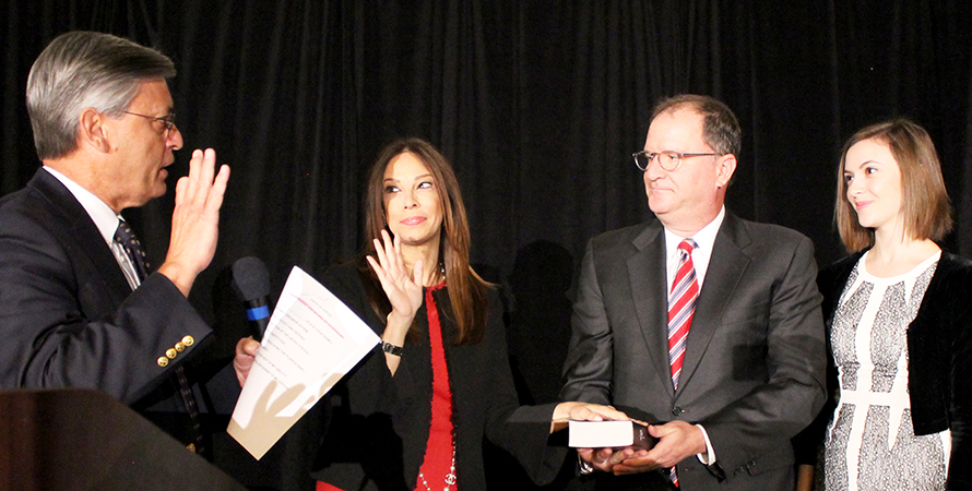 Michelle Suskauer sworn is as president elect