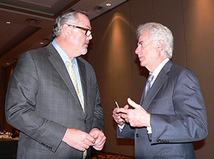 President Greg Coleman, left and Barry Richard