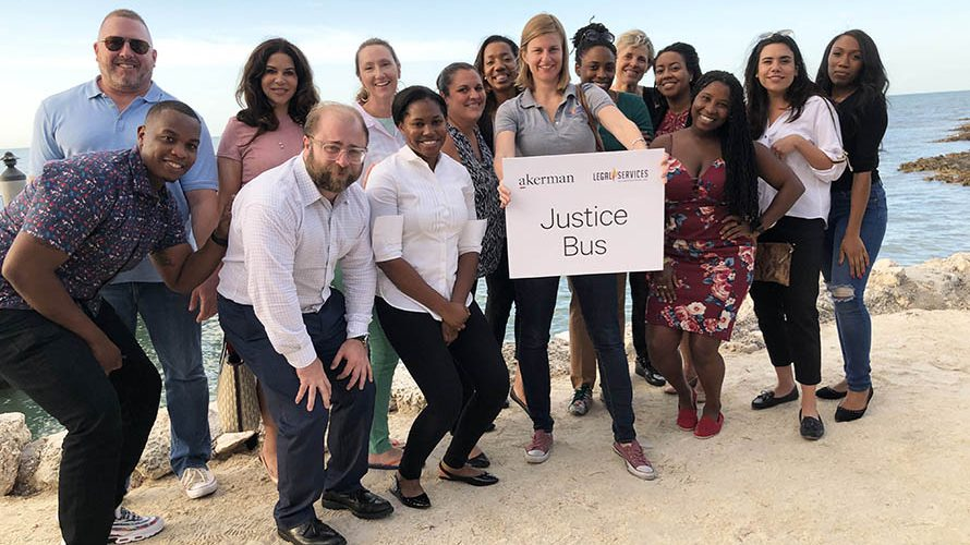 Pro bono collaboration has the wheels turning on the Justice Bus