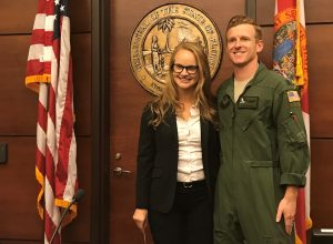 Bailey L. McGowan with her husband, Air Force Capt. Kaleb Simpson