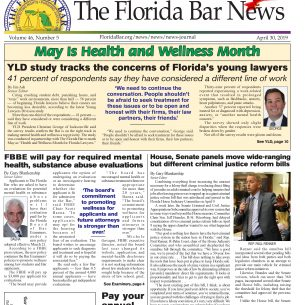 THE APRIL 30 BAR NEWS: Young Lawyers Division kicks off Health and Wellness Month, Bar Examiners will pay for required mental health and substance abuse evaluations, and its time to pay your annual Bar fees.