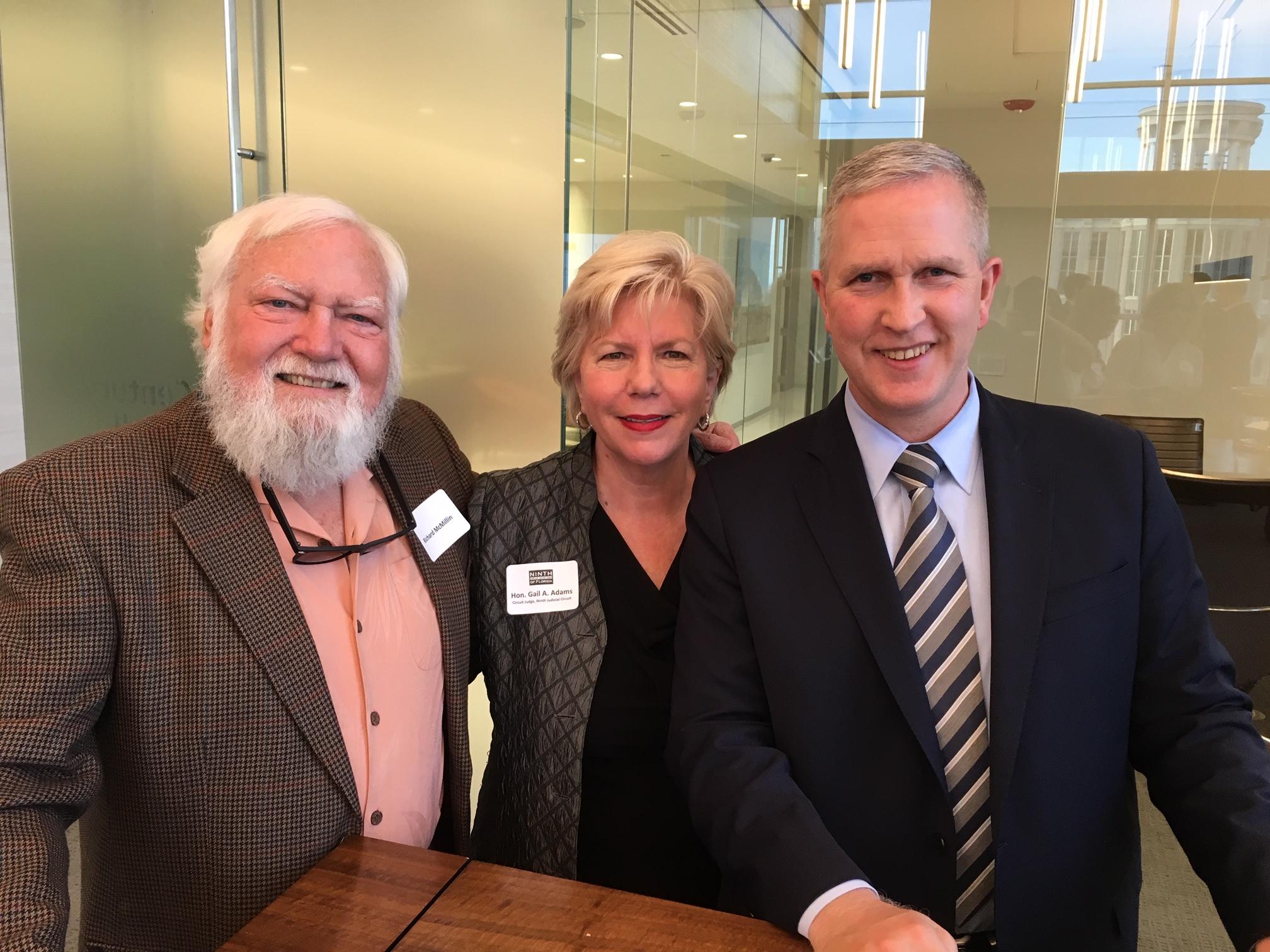 Richard McMillin, Judge Gail A. Adams, Edward O'Sheehan