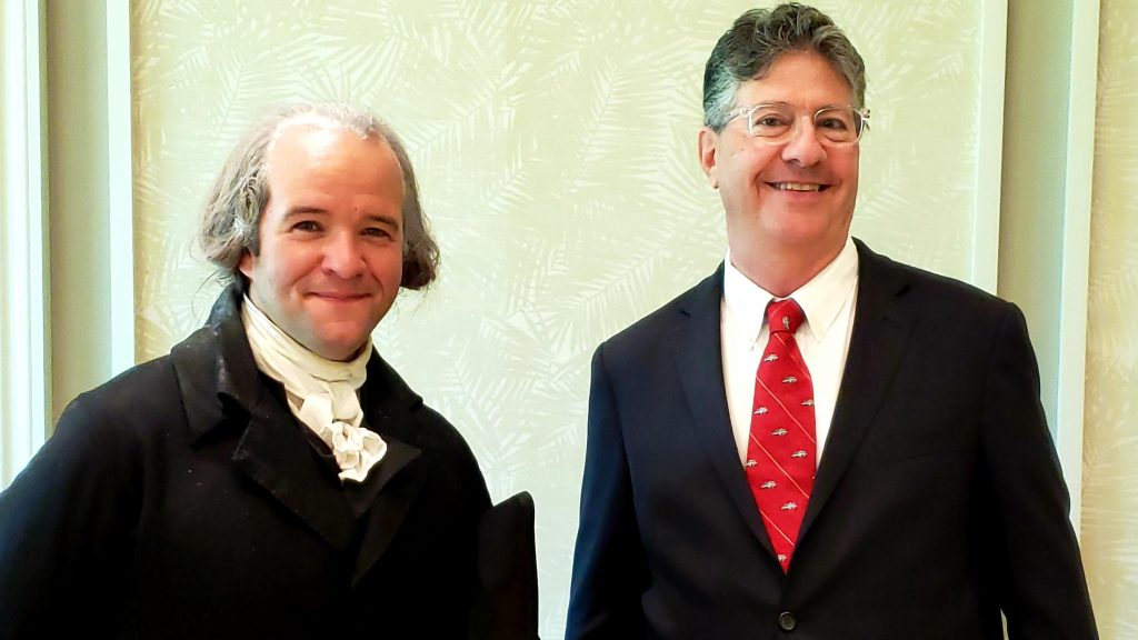 President James Madison addresses Collier County Bar Association's Law Week Luncheon