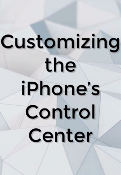 Customizing iphone control center