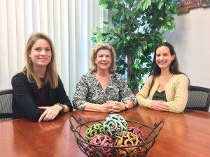 Lauren Rosenthal, Stetson Homeless Advocacy Intern; Kathryn Hynes, BC Program attorney; Lora Vineberg, GLS Pam Wiener Dubrule Intern