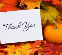 Oct. '19 - SB thanks