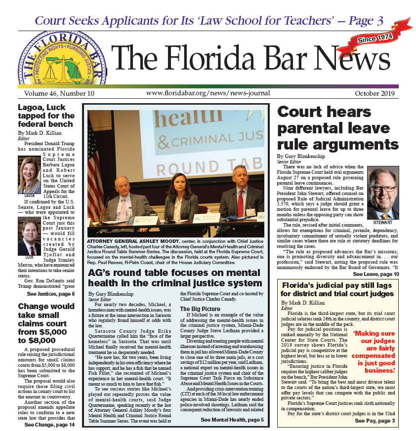 October Florida Bar News