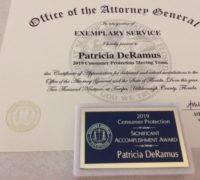 Patricia DeRamus Exemplary Service certificate