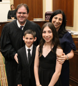 Justice Luck and his family