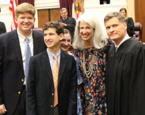 Justice Muniz and his family