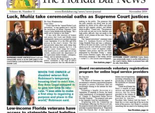 November Florida Bar News