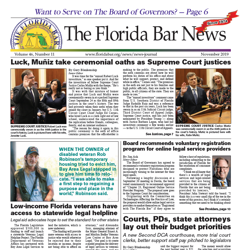 November Florida Bar News