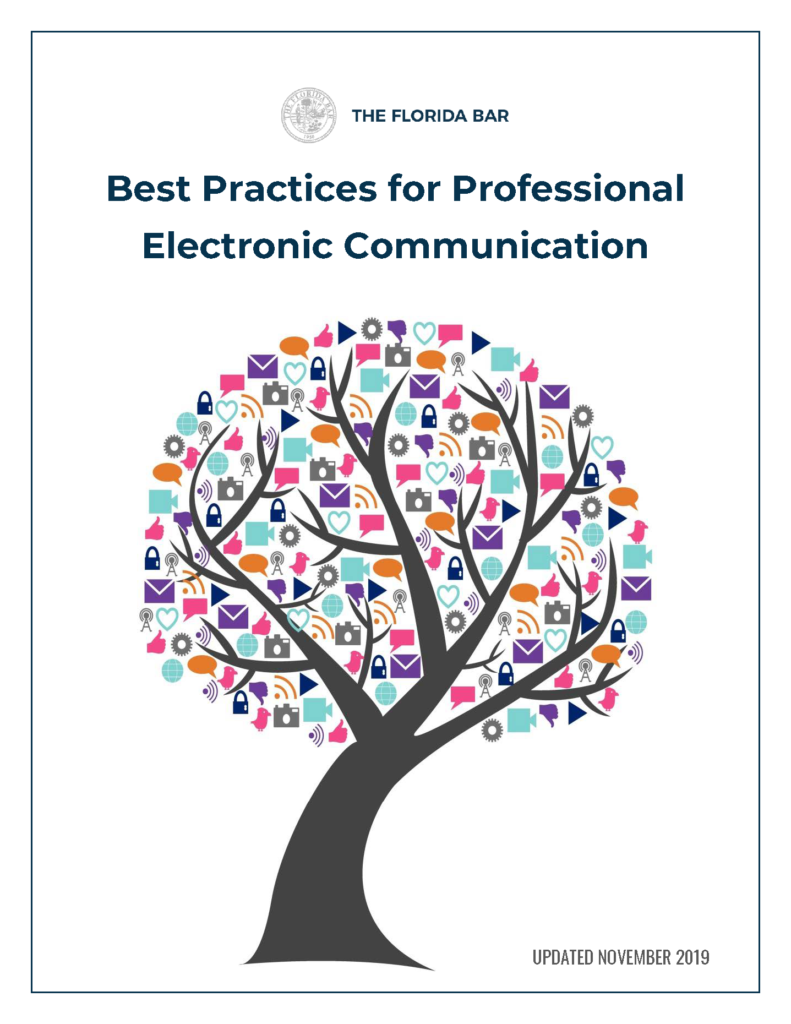 Best Practices for Professional Electronic Communication guide cover