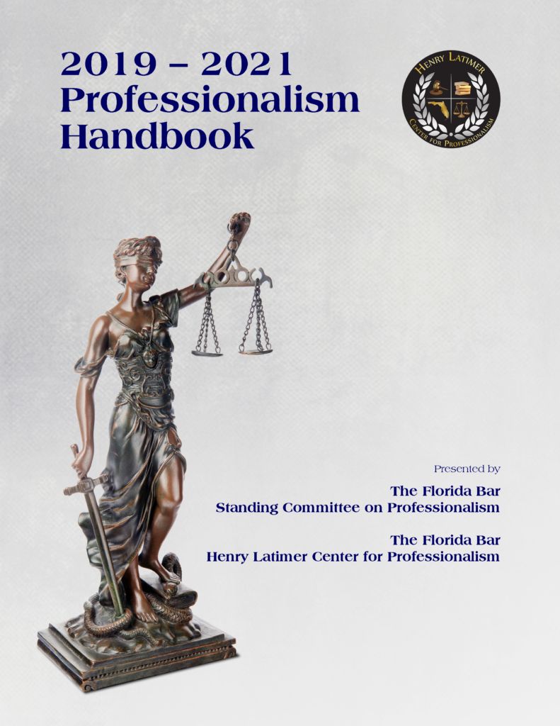 Cover of the 2019-20 Professionalism Handbook