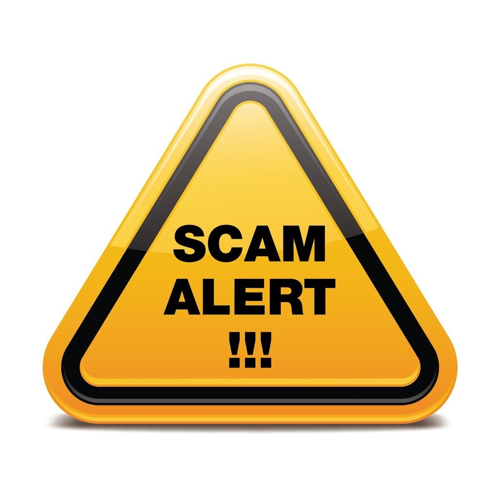 Beware scams - SO