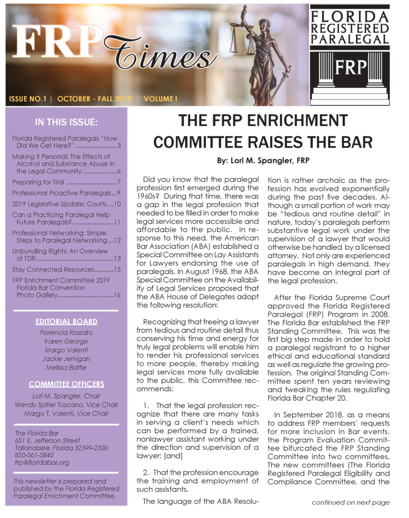 FRP Times Issue 1