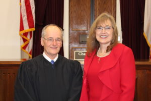 Chief Justice Charles Canady and Mary Ann Etzler