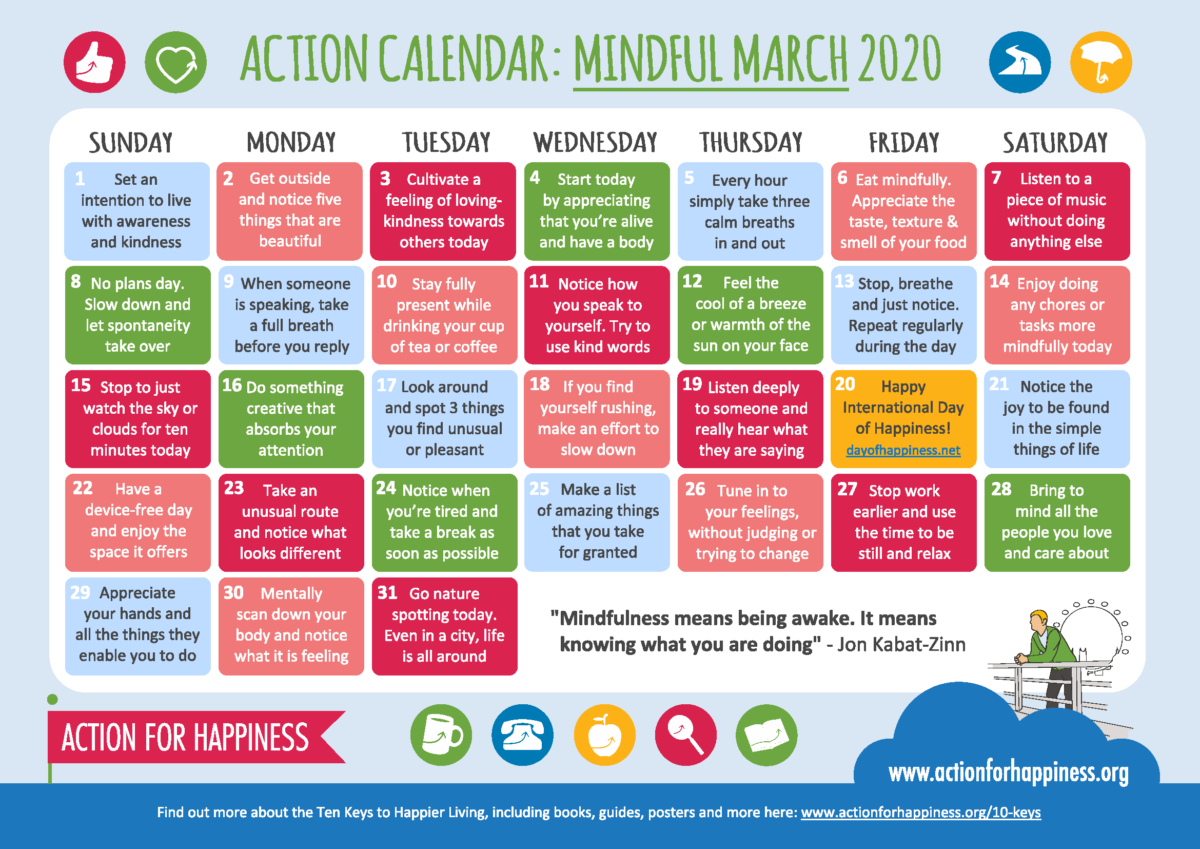 Mindfulness March 2020