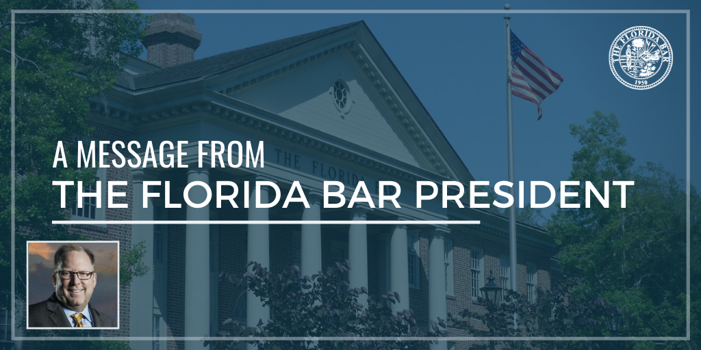 A Message from Florida Bar President John Stewart