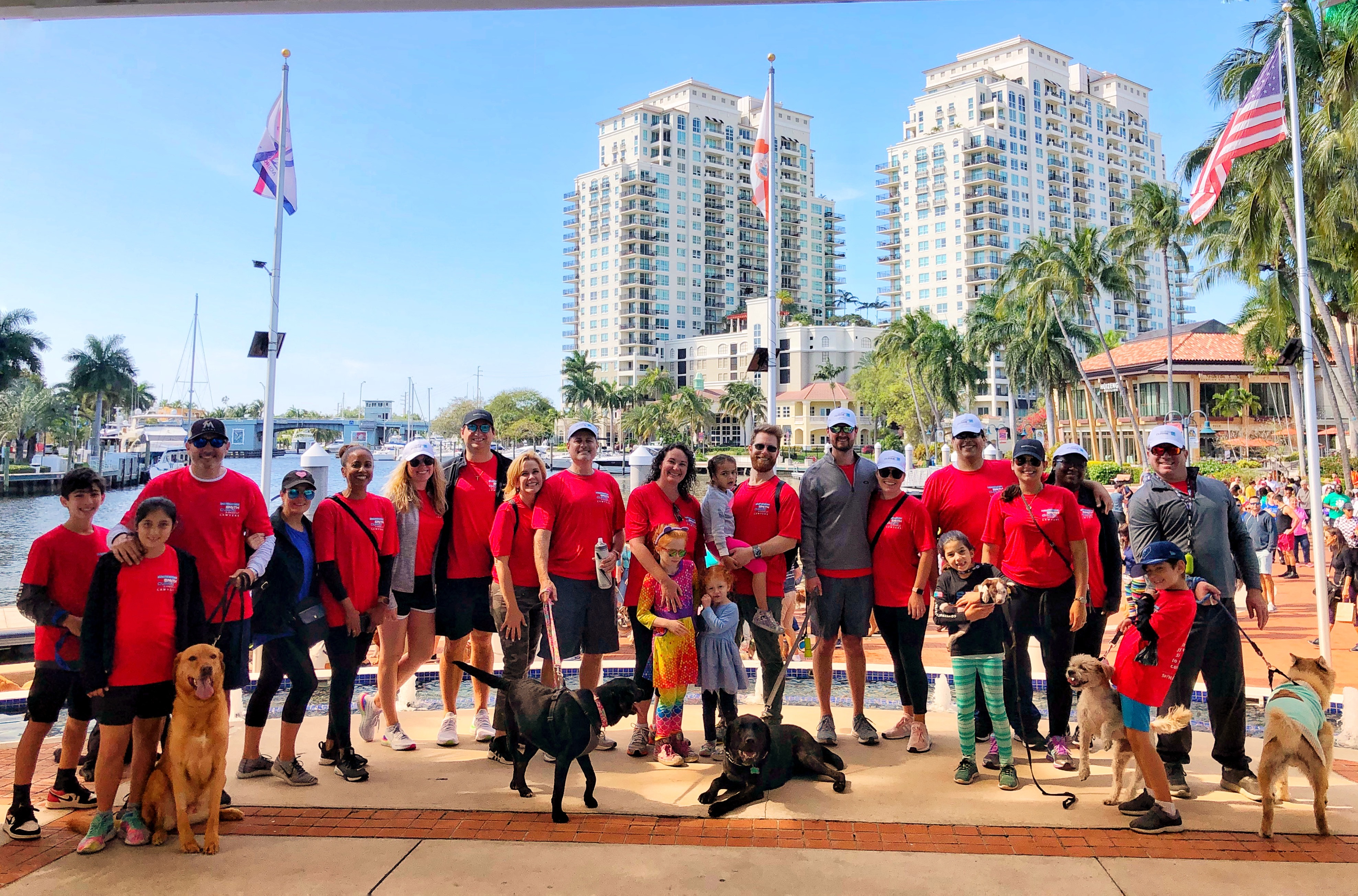 Smith Currie & Hancock's Fort Lauderdale office at the Humane Society of Broward County's 30th annual Walk for the Animals