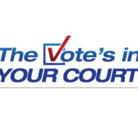 The Vote's in Your Court Logo