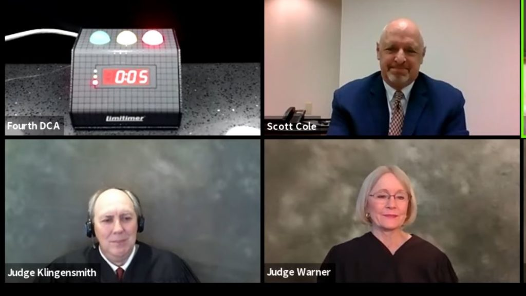 Virtual feedback on remote court proceedings — a judge's perspective