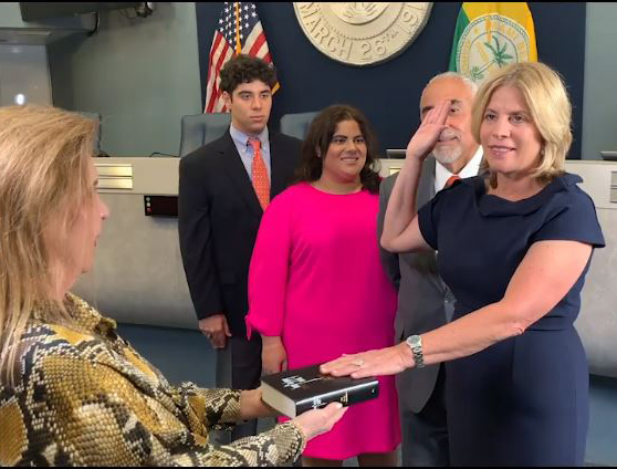 Dori Foster-Morales being sworn in as president of The Florida Bar