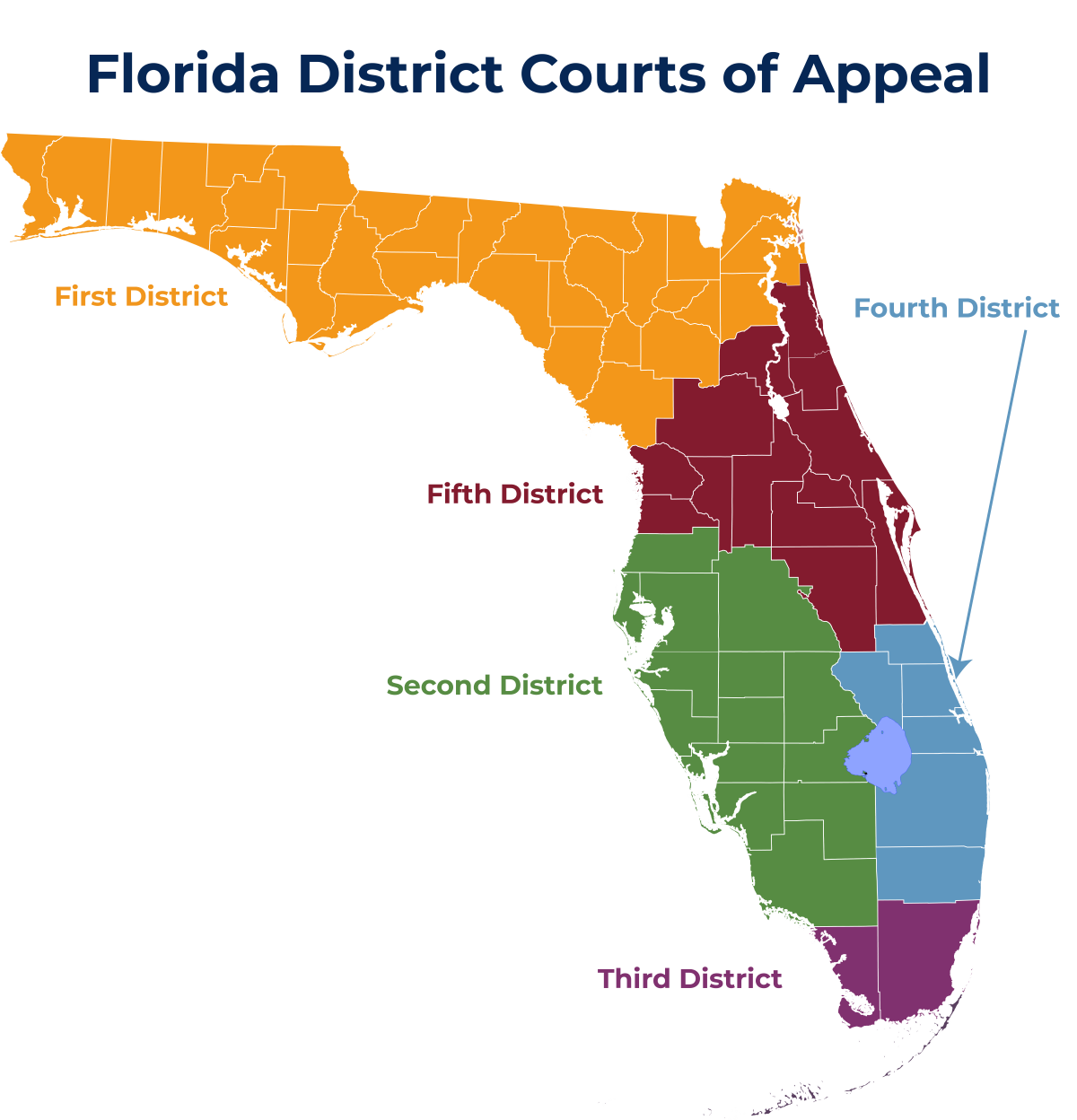Full size map of Florida's DCAs
